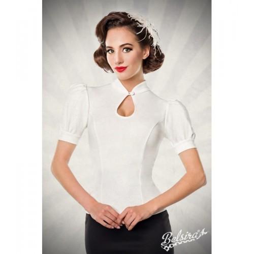 Jersey-Bluse weiß - AT50056 - Bild 1
