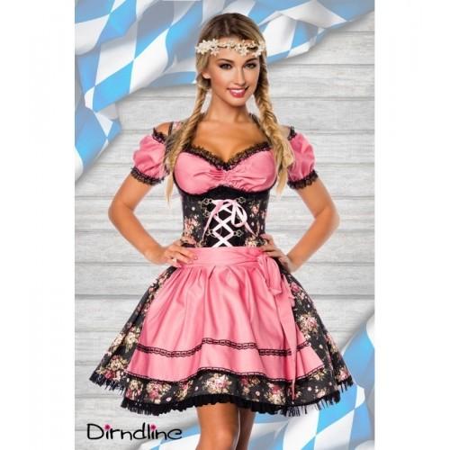 Premium Dirndl inklusive Bluse schwarz/rosa - AT70001 - Bild 1