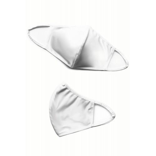 Baumwollmaske 2-lagig Ohrenträger Cup Form weiß - Bild 1