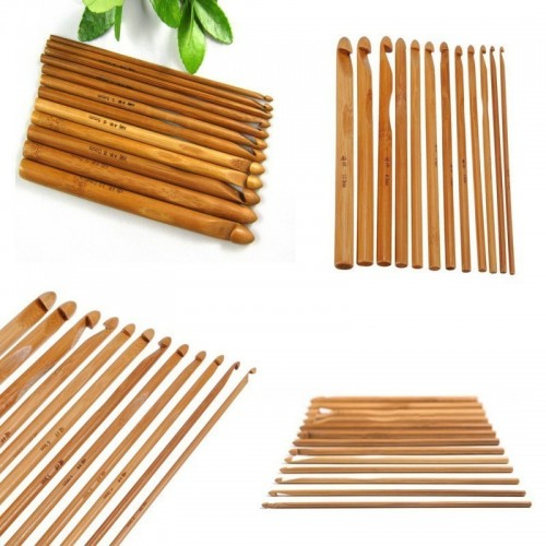 Häkelnadel-Set aus Bambus mit 12 Größen - Bild 1