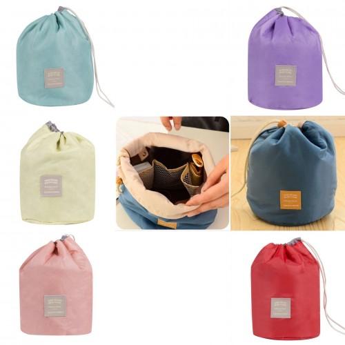 Utensilo - runde Kosmetiktasche mit Kordelzug - einfarbig - Bild 1