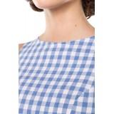 Retro-Karokleid blau/weiß - AT50049 - Bild 4