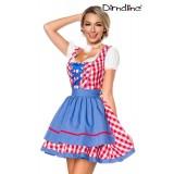 Traditionelles Minidirndl rot/blau/weiß - AT70003 - Bild 1