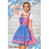Traditionelles Minidirndl rot/blau/weiß - AT70003 - Bild 5