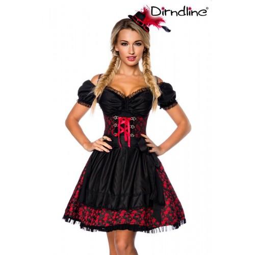 Premium Dirndl mit Bluse rot/schwarz - AT70000 - Bild 1