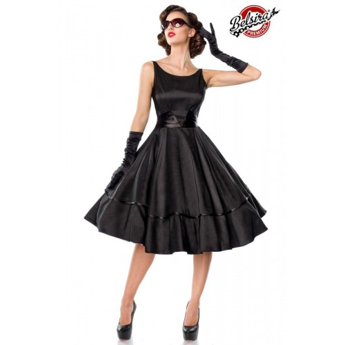 Belsira Premium Satin-Swingkleid schwarz - 50125 - Bild 1