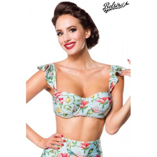 Vintage Bikinioberteil blau/pink/grün - 50114 - Bild 1
