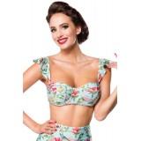 Vintage Bikinioberteil blau/pink/grün - 50114 - Bild 2 Vorschau