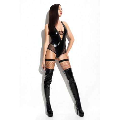 schwarzer Wetlook-Body Claudia von Demoniq - Bild 1