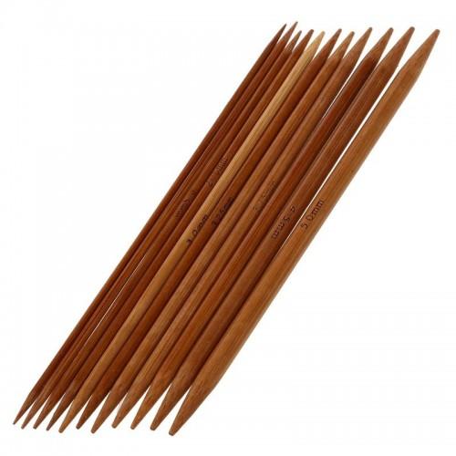 Stricknadel-Set aus Bambus mit 11 Größen - Bild 1