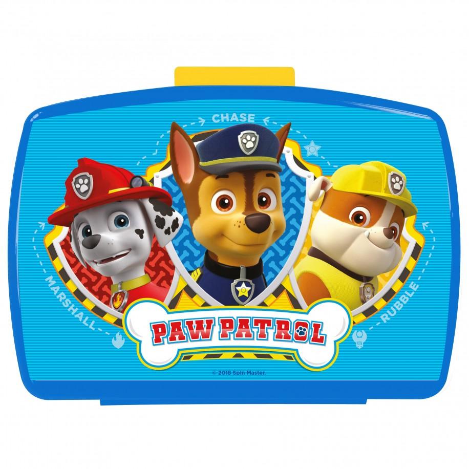 PAW PATROL - Blaue Brotdose mit Einsatz für Kinder - Bild 1