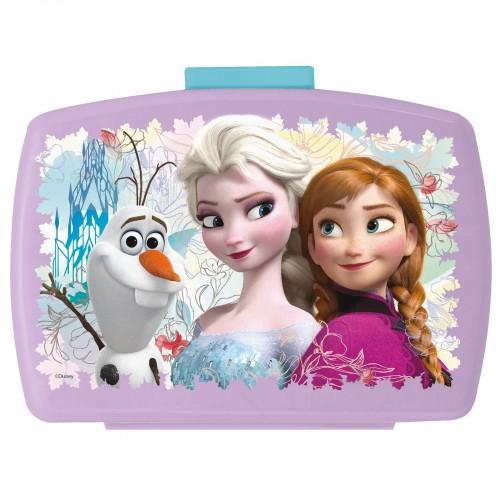 FROZEN - Lila Brotdose mit Einsatz für Kinder - Bild 1
