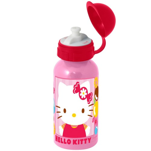 Hello Kitty - Rosa Aluminium Trinkflasche für Kinder - Bild 1