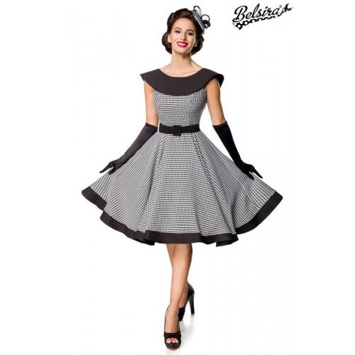 Premium Vintage Swing-Kleid schwarz/weiß - 50181 - Bild 1