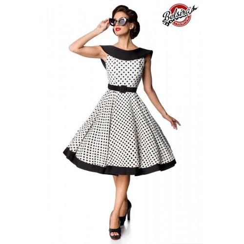 Premium Vintage Swing-Kleid weiß/schwarz - 50124 - Bild 1