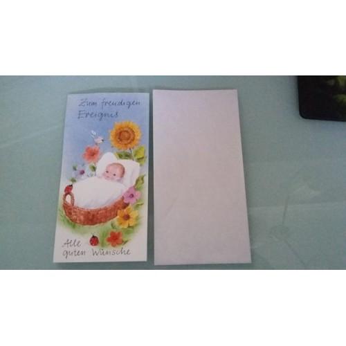 Glückwunschkarte zur Geburt GK-001002 - Bild 1