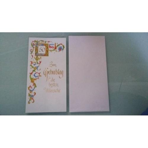 Glückwunschkarte zum 50. Geburtstag - Geburtstagskarte - Bild 1