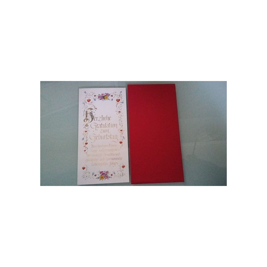 Glückwunschkarte zum Geburtstag - Geburtstagskarte GK-001005 - Bild 1