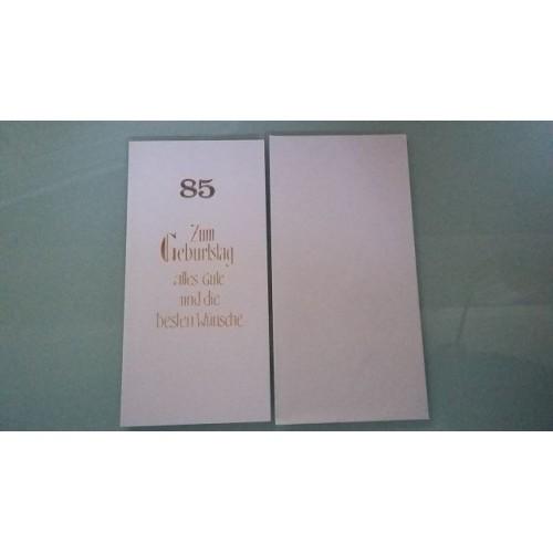 Glückwunschkarte zum 85. Geburtstag - Geburtstagskarte GK-001008 - Bild 1