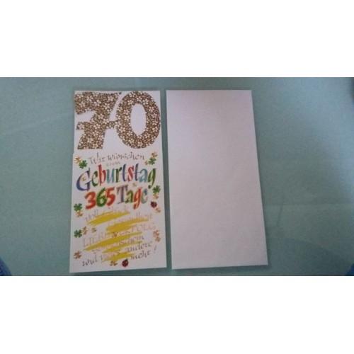 Glückwunschkarte zum 70. Geburtstag - Geburtstagskarte GK-001015 - Bild 1