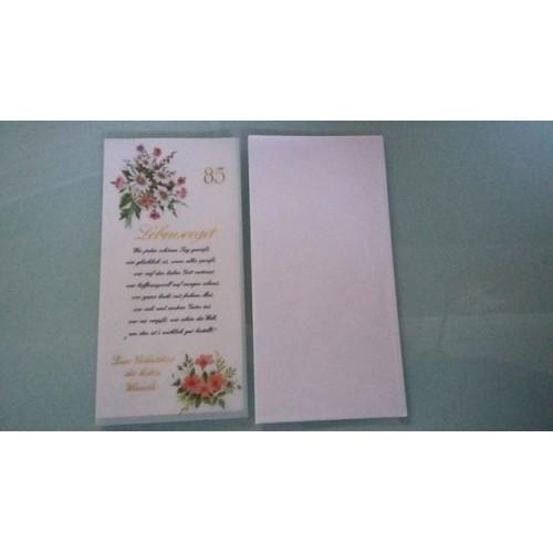 Glückwunschkarte zum 85. Geburtstag - Geburtstagskarte - Bild 1