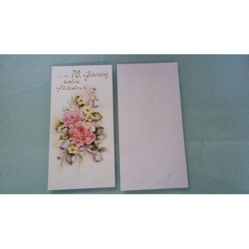 Glückwunschkarte zum 70. Geburtstag - Geburtstagskarte - Bild 1